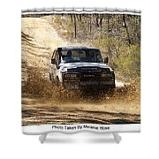 Jeep In The Mud Shower Curtain