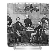 Jefferson Davis, Cabinet Shower Curtain by Photo Researchers