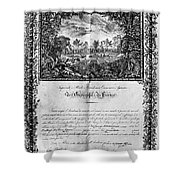 Jefferson: Degree, 1820 Shower Curtain