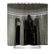 Jefferson In The Dark Shower Curtain