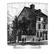 Jeffersons House, 1776 Shower Curtain