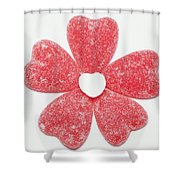 Jelly Candy Heart Flower 1 Shower Curtain