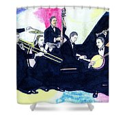 Jelly Roll And The Red Hot Peppers Shower Curtain