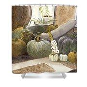 Jennifer's Pumpkins Shower Curtain