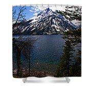 Jenny Lake In The Grand Teton Area Shower Curtain