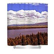 Jenny Lake Panorama Shower Curtain