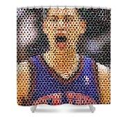 Jeremy Lin Mosaic Shower Curtain by Paul Van Scott
