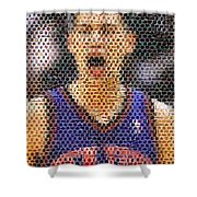 Jeremy Lin Mosaic Shower Curtain by Paul Van Scott