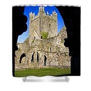 Jerpoint Abbey In Kilkenny Shower Curtain