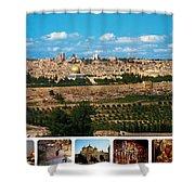 Jerusalem Poster Shower Curtain