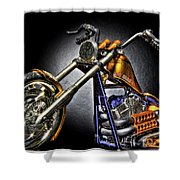 Jesse James Bike Detroit Mi Shower Curtain