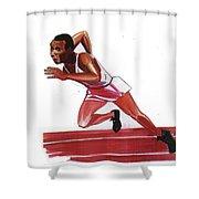 Jesse Owens Shower Curtain