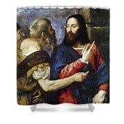 Jesus & Tribute Money Shower Curtain