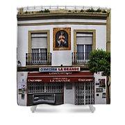 Jesus And The Cerveceria Shower Curtain