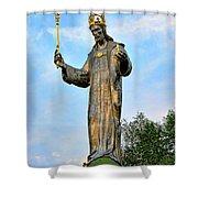 Jesus Christ Statue Shower Curtain
