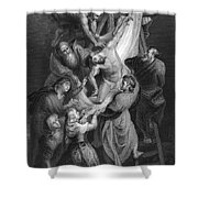 Jesus: Deposition Shower Curtain