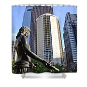 Jesus Of Philadelphia Shower Curtain