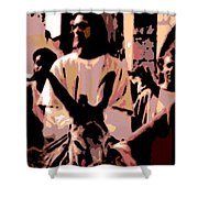 Jesus Rides Into Jerusalem Shower Curtain