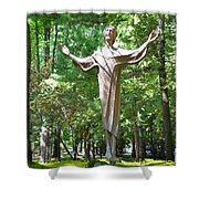 Jesus Statue Shower Curtain