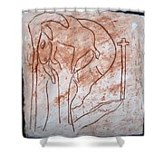 Jesus The Good Shepherd - Tile Shower Curtain