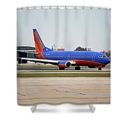 Jet Chicago Airplanes 11 Shower Curtain