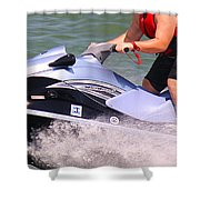 Jet Ski Speed Shower Curtain