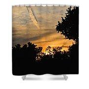 Jet Trail Sunset Shower Curtain