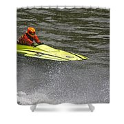 Jetboat In A Race At Grants Pass Boatnik Shower Curtain