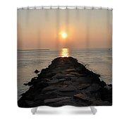 Jetty Sunrise Shower Curtain