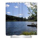 Jewel Lake Beach Chair Shower Curtain