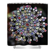 Jeweled Snow Flake Shower Curtain