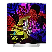 Jimi Hendrix Number 22 Shower Curtain