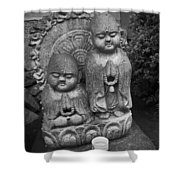 Jizo Bodhisattva Deities- Daitoku-ji Temple Japan Shower Curtain