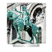 Joan Of Arc At Sacre Coeur Basilica Paris France Shower Curtain