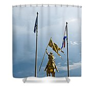 Joan Of Arc Statue II Shower Curtain