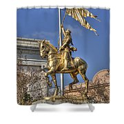 Joan Of Arc Statue New Orleans Shower Curtain