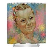 Joana's Portrait Shower Curtain