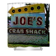 Joe's Crab Shack Shower Curtain