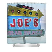 Joe's Crab Shack Retro Sign Shower Curtain