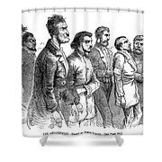 John Brown Trial, 1859 Shower Curtain