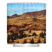 John Day Blue Basin Shower Curtain