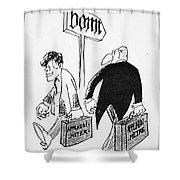 John F. Kennedy Cartoon Shower Curtain