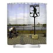 John Finley Walk V Shower Curtain