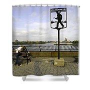 John Finley Walk V Shower Curtain