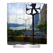 John Finley Walk V11 Shower Curtain