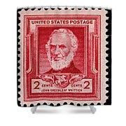 John Greenleaf Whittier Postage Stamp Shower Curtain