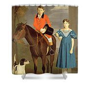 John Gubbins Newton And His Sister Mary Shower Curtain
