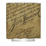 John Hancocks Signature Shower Curtain