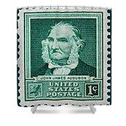 John James Audubon Postage Stamp Shower Curtain