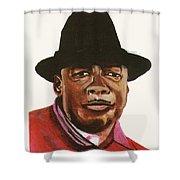 John Lee Hooker Shower Curtain by Emmanuel Baliyanga